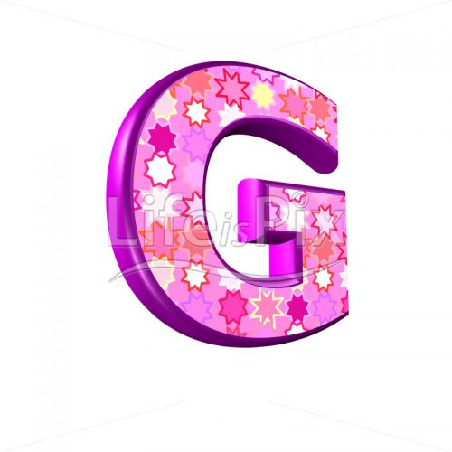 upper case letter G with pink stars texture – 3d illustration – Royalty free stock photos, illustrations and 3d letters fonts