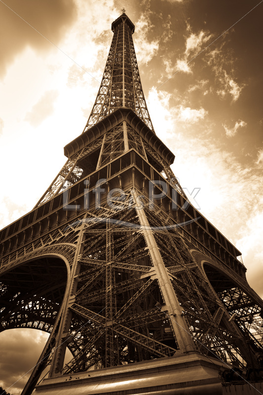 vintage eiffel tower image - Royalty free stock photos, illustrations and 3d letters fonts