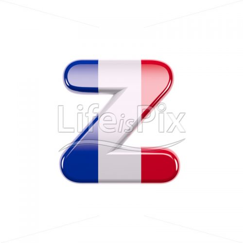 France font Z – Small 3d letter – Royalty free stock photos, illustrations and 3d letters fonts
