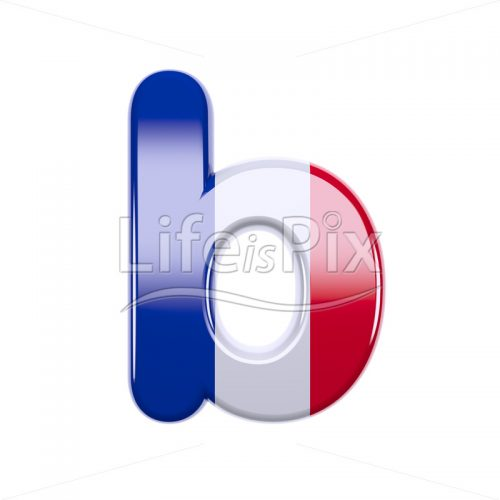 France letter B – Small 3d font – Royalty free stock photos, illustrations and 3d letters fonts