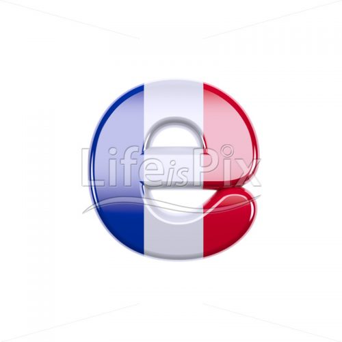 France letter E – lowercase 3d font – Royalty free stock photos, illustrations and 3d letters fonts