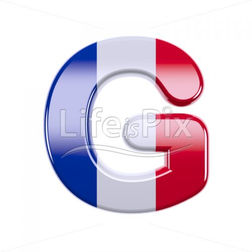France letter G – large 3d letter – Royalty free stock photos, illustrations and 3d letters fonts