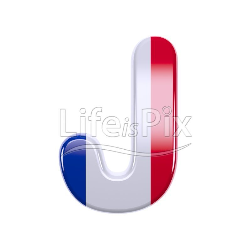 France letter J – large 3d letter – Royalty free stock photos, illustrations and 3d letters fonts