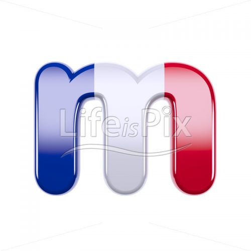 France letter M – Small 3d character – Royalty free stock photos, illustrations and 3d letters fonts