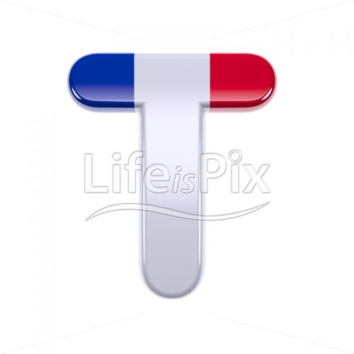 France letter T – Capital 3d font – Royalty free stock photos, illustrations and 3d letters fonts