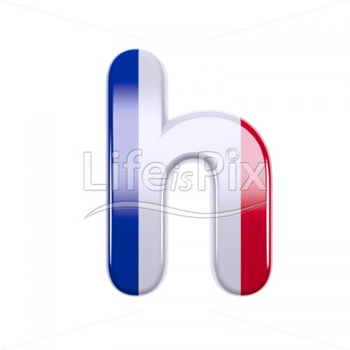 French font H – Small 3d character – Royalty free stock photos, illustrations and 3d letters fonts