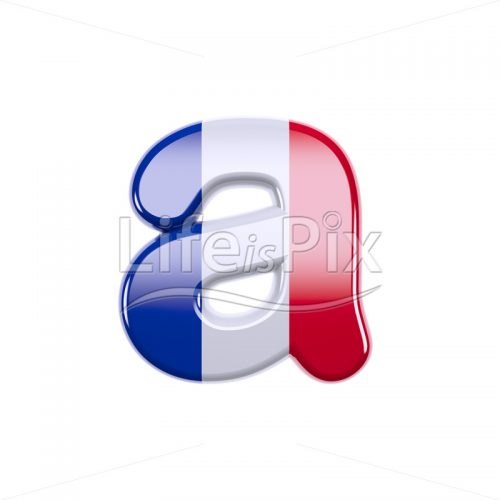 French letter A – Small 3d character – Royalty free stock photos, illustrations and 3d letters fonts