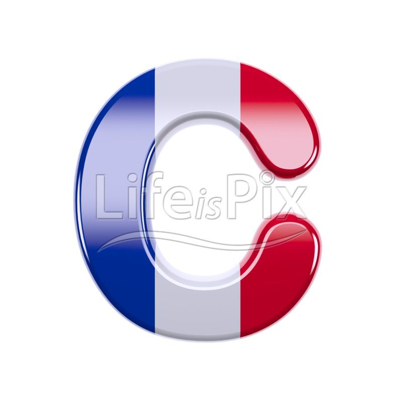 French letter C – large 3d character – Royalty free stock photos, illustrations and 3d letters fonts