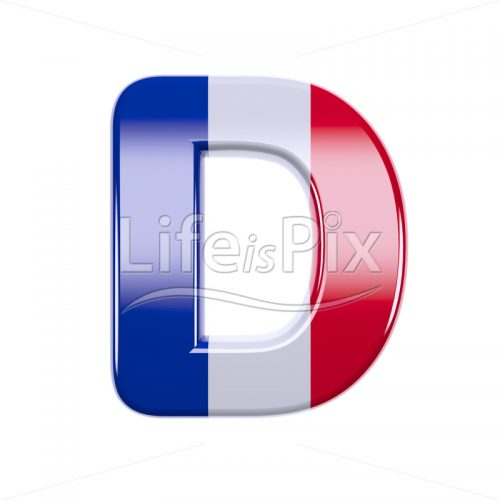 French letter D – Uppercase 3d letter – Royalty free stock photos, illustrations and 3d letters fonts