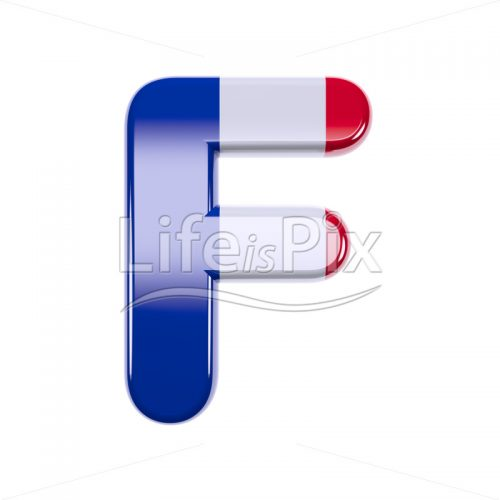 French letter F – Capital 3d character – Royalty free stock photos, illustrations and 3d letters fonts