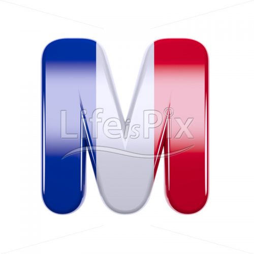 French letter M – Upper-case 3d font – Royalty free stock photos, illustrations and 3d letters fonts