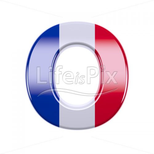 French letter O – Capital 3d character – Royalty free stock photos, illustrations and 3d letters fonts