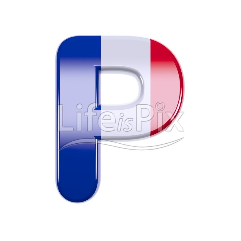French letter P – Capital 3d letter – Royalty free stock photos, illustrations and 3d letters fonts