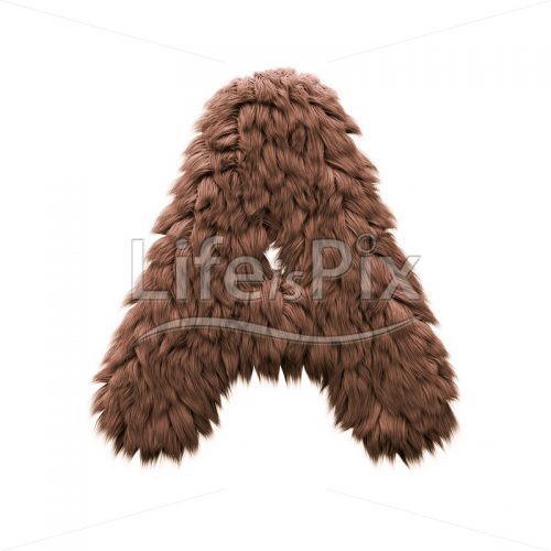 Bigfoot letter A – Uppercase 3d font – Royalty free stock photos, illustrations and 3d letters fonts