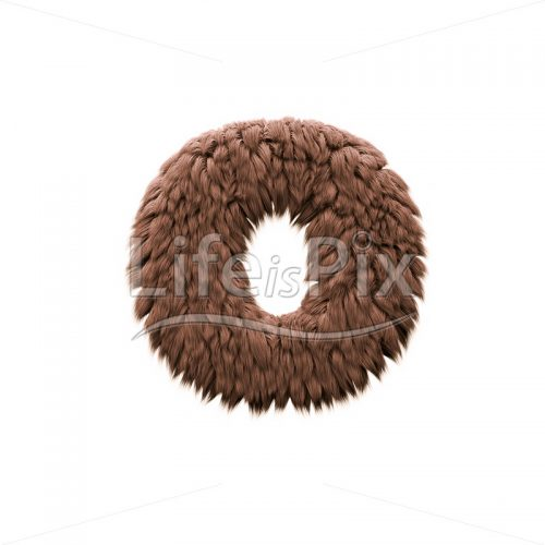 Bigfoot letter O – Lowercase 3d character – Royalty free stock photos, illustrations and 3d letters fonts