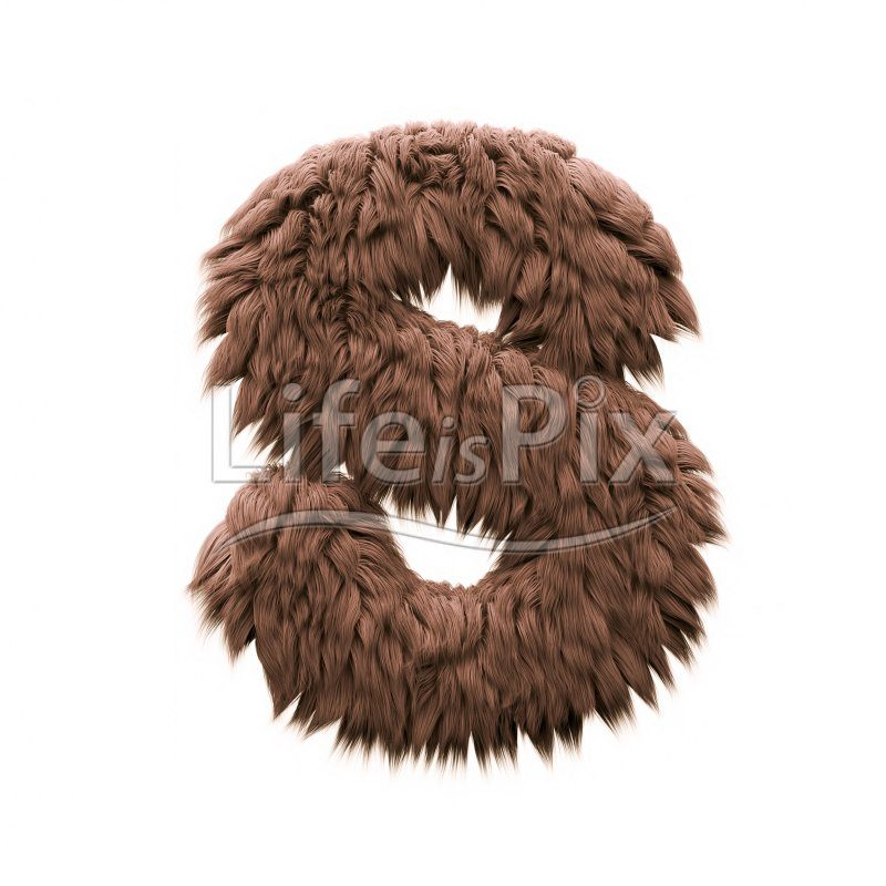 Bigfoot letter S – Capital 3d character – Royalty free stock photos, illustrations and 3d letters fonts