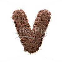 Bigfoot letter V – Capital 3d font – Royalty free stock photos, illustrations and 3d letters fonts