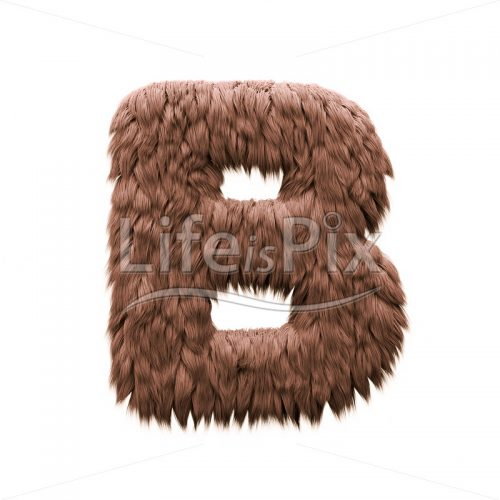 Monster letter B – large 3d character – Royalty free stock photos, illustrations and 3d letters fonts