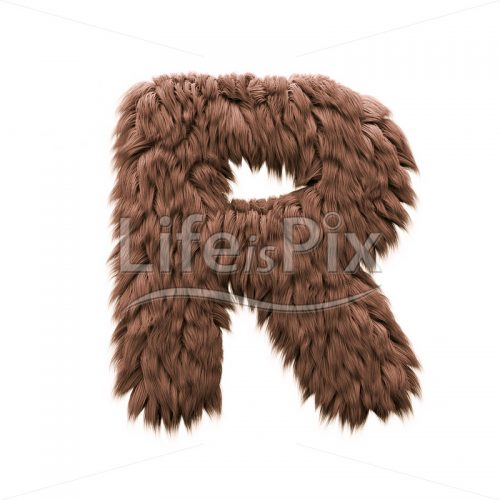 Monster letter R – Capital 3d character – Royalty free stock photos, illustrations and 3d letters fonts