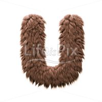 Monster letter U – Upper-case 3d character – Royalty free stock photos, illustrations and 3d letters fonts