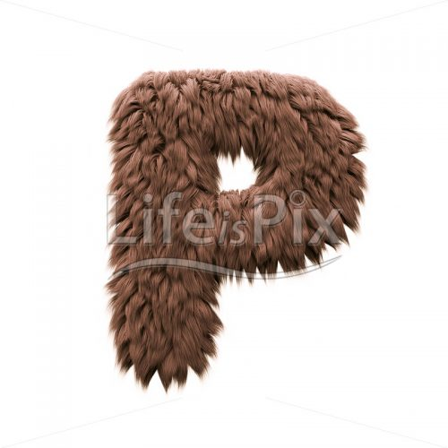 Sasquatch letter P – Capital 3d letter – Royalty free stock photos, illustrations and 3d letters fonts