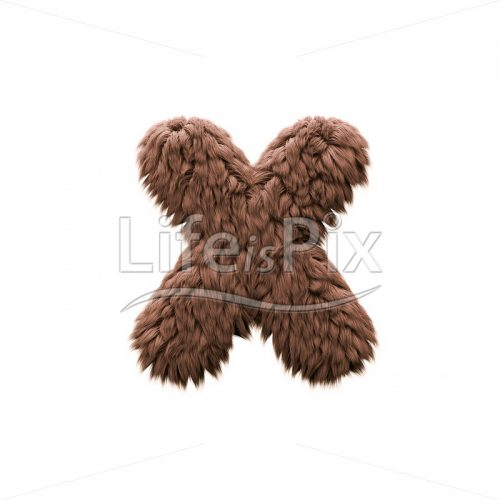 Sasquatch letter X – Lower-case 3d character – Royalty free stock photos, illustrations and 3d letters fonts