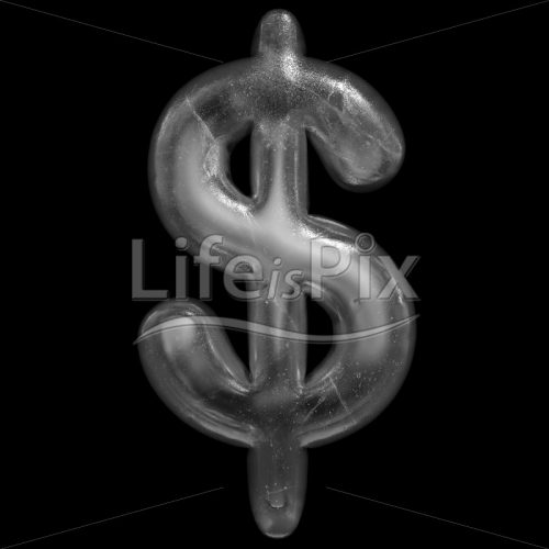 Winter Dollar currency symbol – 3d Business symbol – Royalty free stock photos, illustrations and 3d letters fonts