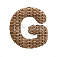 wicker letter G – large 3d letter – Royalty free stock photos, illustrations and 3d letters fonts