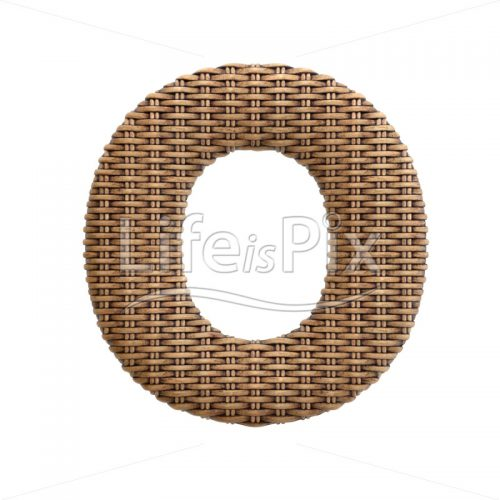 wicker letter O – Capital 3d character – Royalty free stock photos, illustrations and 3d letters fonts