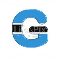 Botswana flag letter G – large 3d letter – Royalty free stock photos, illustrations and 3d letters fonts