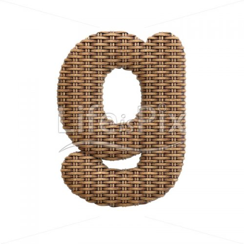 rattan basket character G – Lowercase 3d letter – Royalty free stock photos, illustrations and 3d letters fonts