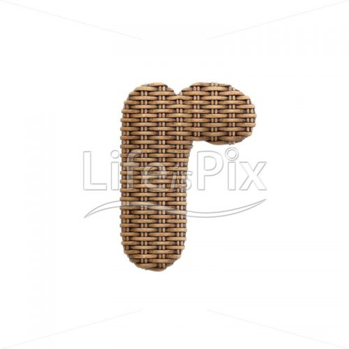 rattan basket letter R – Small 3d font – Royalty free stock photos, illustrations and 3d letters fonts