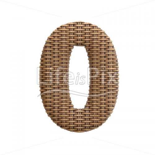 rattan digit 0 –  3d numeral – Royalty free stock photos, illustrations and 3d letters fonts