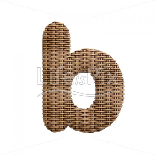 wicker letter B – Small 3d font – Royalty free stock photos, illustrations and 3d letters fonts