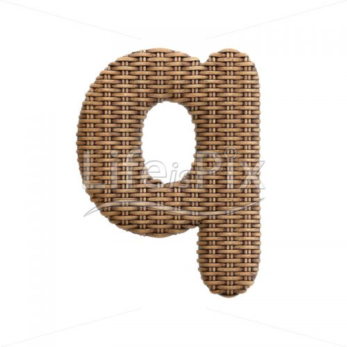 wicker letter Q – Small 3d character – Royalty free stock photos, illustrations and 3d letters fonts
