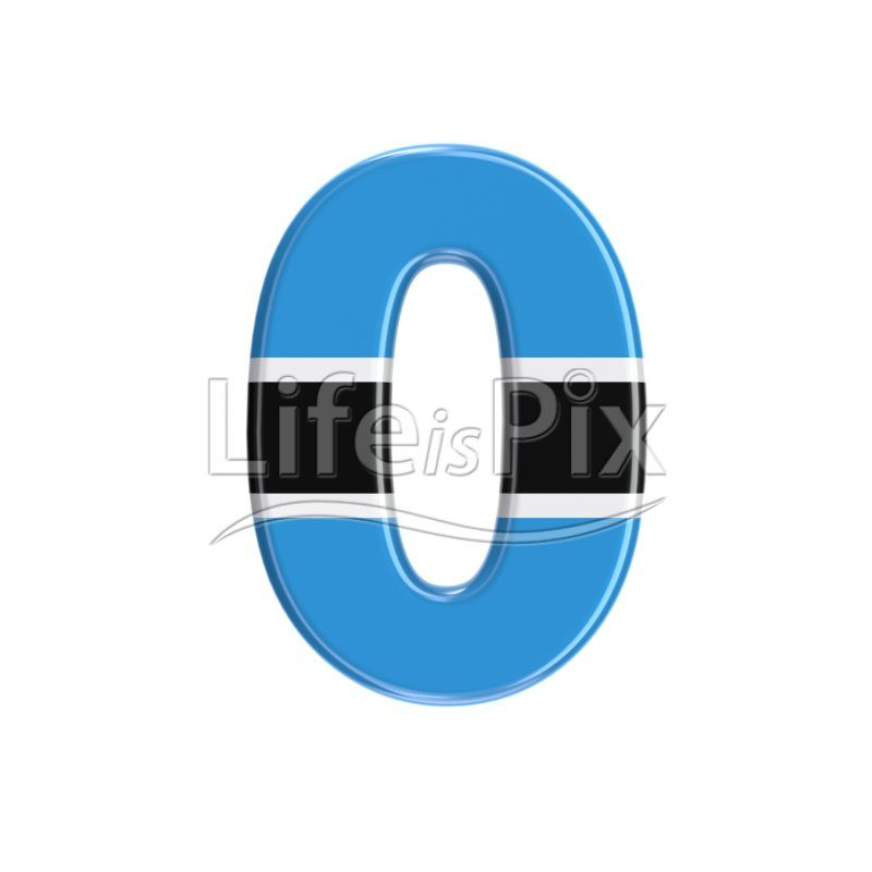 Batswana digit 0 –  3d numeral – Royalty free stock photos, illustrations and 3d letters fonts