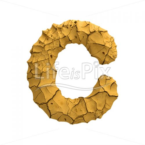 clay letter C – large 3d character – Royalty free stock photos, illustrations and 3d letters fonts