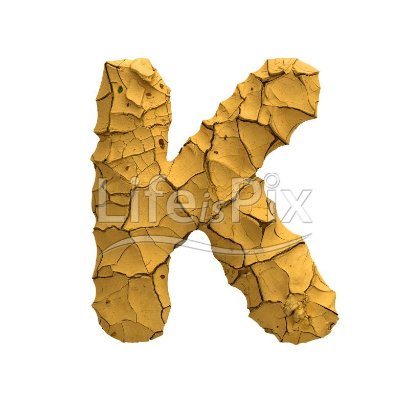 clay letter K – Large 3d character – Royalty free stock photos, illustrations and 3d letters fonts