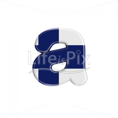 Finland  letter A – Small 3d character – Royalty free stock photos, illustrations and 3d letters fonts