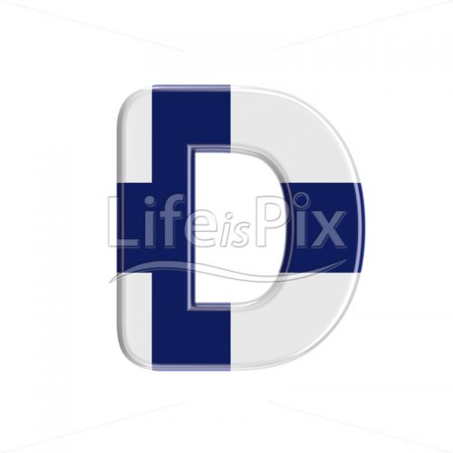 Finland  letter D – Uppercase 3d letter – Royalty free stock photos, illustrations and 3d letters fonts