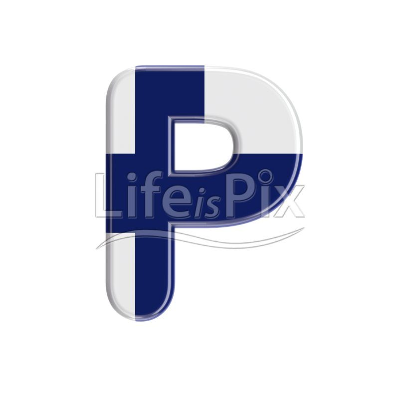 Finland  letter P – Capital 3d letter – Royalty free stock photos, illustrations and 3d letters fonts