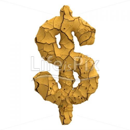 cracked ground Dollar currency symbol – 3d Business symbol – Royalty free stock photos, illustrations and 3d letters fonts