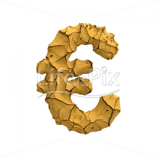 cracked ground euro currency symbol – 3d Currency symbol - Royalty free stock photos, illustrations and 3d letters fonts