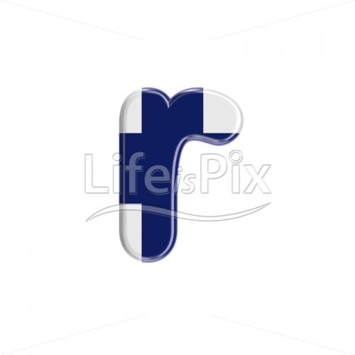 finnish flag letter R – Small 3d font – Royalty free stock photos, illustrations and 3d letters fonts