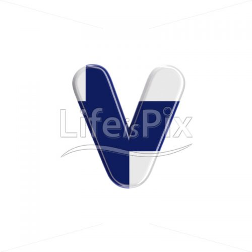 Finnish letter V – Lowercase 3d character – Royalty free stock photos, illustrations and 3d letters fonts
