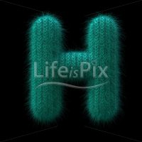 Wool knit letter H – large 3d font – Royalty free stock photos, illustrations and 3d letters fonts