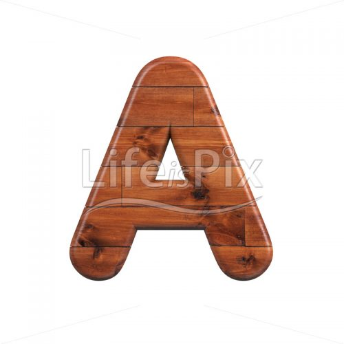 Wooden parquet letter A – Uppercase 3d font – Royalty free stock photos, illustrations and 3d letters fonts