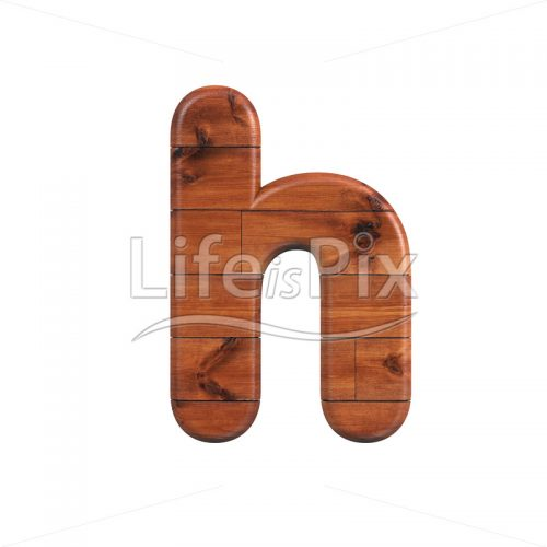wood font H – Small 3d character – Royalty free stock photos, illustrations and 3d letters fonts