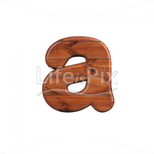 wood letter A – Small 3d character – Royalty free stock photos, illustrations and 3d letters fonts
