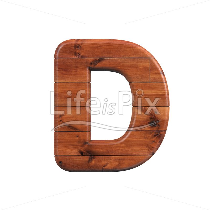 wood letter D – Uppercase 3d letter – Royalty free stock photos, illustrations and 3d letters fonts